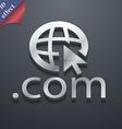 Domain COM icon symbol 3D style Trendy modern vector image