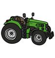 Green open tractor vector image