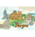 burgas doodles vector image vector image