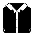 black sections silhouette of man shirt folded vector image