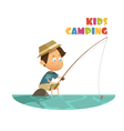 Camping Children Concept vector image
