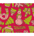Colorful seamless pattern with winter holiday vector image