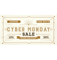 Cyber Monday Sale Retro Background vector image