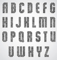 Geometric shape bold poster letters font vector image