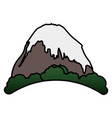 mountain peak with snow vector image