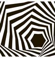 Op art background vector image