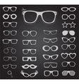 Set of sunglasses and glasses vector image