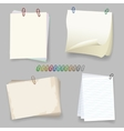Sheets with paper clip vector image