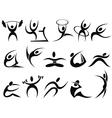 Sports symbols vector image