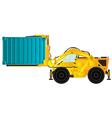 Container handler forklift vector image