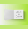 3d stack of white stickers with back to school vector image