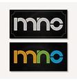 letter M N O logo alphabet chalk icon set vector image