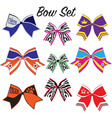 Cheerleading bow set vector image vector image