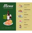 Italian cuisine restaurant menu design vector image vector image