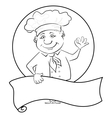 Cook with poster outline vector image vector image