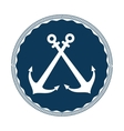 anchor symbol isolated icon vector image