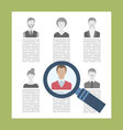 Concept Recruitment Specialists vector image