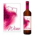 label for red wine vector image
