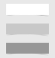 banner set empty and blank art vector image