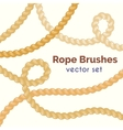 rope brushes set Decorative knots vector image