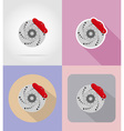car equipment flat icons 07 vector image vector image