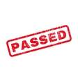 Passed Rubber Stamp vector image