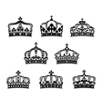 King and queen heraldic crowns set vector image