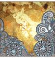 flower design on gold grunge background vector image