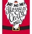Ho-ho-ho Merry Christmas greeting card template vector image