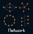 Network types vector image vector image