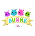 Cute colorful kids vector image