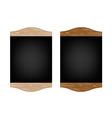 Restaurant Menu Board Set vector image