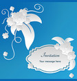 wedding invitation card templates with paper cut vector image