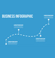 business infographic line chart vector image