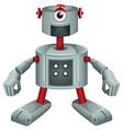 A grey robot vector image