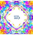 Vivid colors paint drops frame in seamless vector image