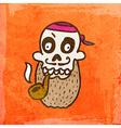 Pirate Skeleton Cartoon vector image