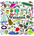 Vacation line art design vector image