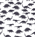 Dinosaur black and white seamless pattern vector image
