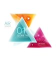 Shiny glass triangle web box vector image