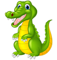 Cartoon cute crocodile vector image