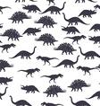 Dinosaur black and white seamless pattern vector image