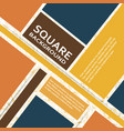 flat squares design cover vector image