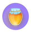 honey pot icon isolated on white background vector image