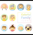 Set of colorful family icons vector image