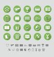 Soccer icons set flat design vector image