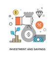 investment and savings vector image