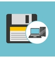backup floppy laptop data server vector image