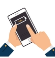 smartphone battery level icon vector image vector image