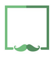 frame mustache decorative vector image